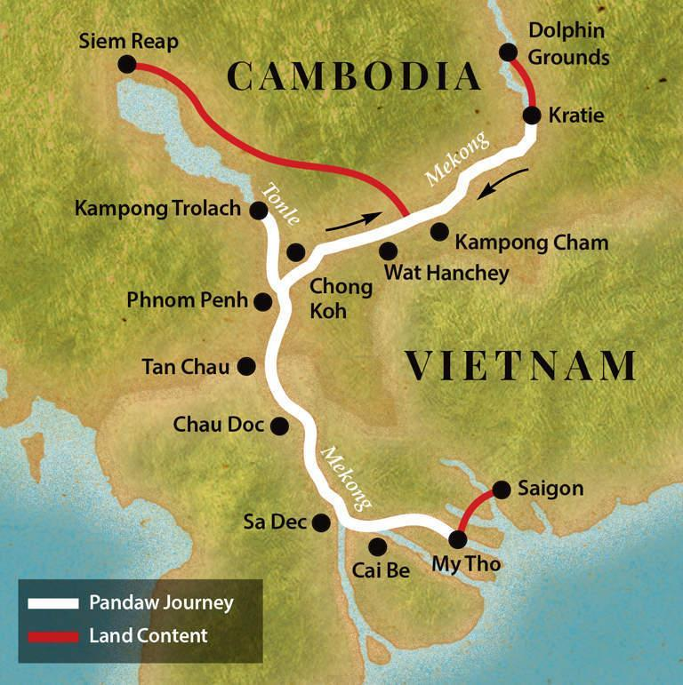 Travel Map by RV Pandaw Cruise